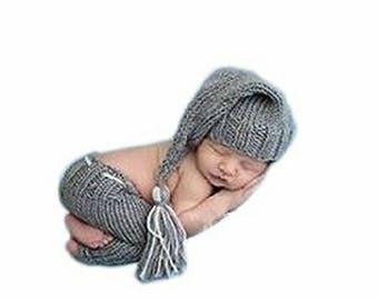 Newborn baby crochet photography costume