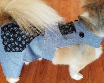 Blue Denim Look Overalls for Dogs