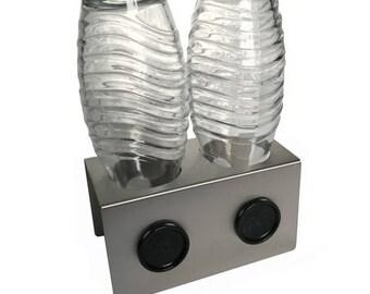 2 Stainless steel drip holder for e.g. Sodastream crystal bottles