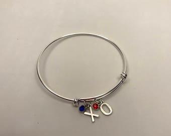 Audiology adjustable charm bangle bracelet