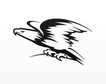 Decals Stickers Eagle Tablet Laptop Waterproof Sports car 09427