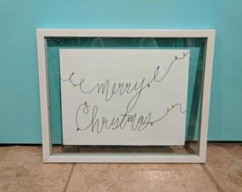Merry Christmas Sign | Christmas decor | Christmas decorations | Christmas sign | Wall decor | Merry Christmas