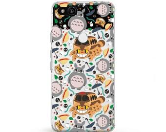 Studio Ghibli Totoro phone case Catbus LGG6 anime case pixel phone case Kawaii phone case Samsung Galaxy s7 LG G6 case funny Studio Ghibli