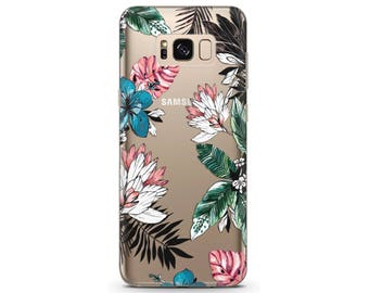 Phone case floral Galaxy note 8 case Flower phone case google pixel 2 xl Watercolor greenery LG G6 floral case Tropical phone case pixel xl