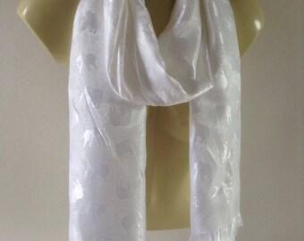 Thai silk shawl,thai silk scarf,thai silk wrap,white silk shawl,wedding shawl,infinity scarf,silk shawl,100% thai silk shawl,shawl