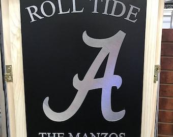 Alabama Roll Tide Personalized Engraved Garden Flag/Sign