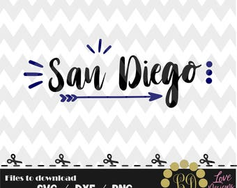 San Diego svg,png,dxf,cricut,silhouette,college,jersey,shirt,proud,cut,university,baseball,softball,arrow,decal,padres,california,angeles