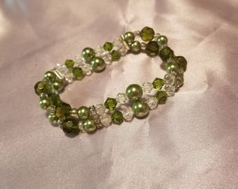 Green and crystal double strand