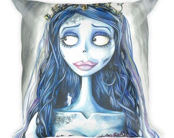 Corpse Bride Square Pillow