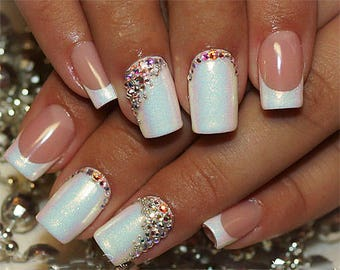 Nail art design etsy swarovski crystal ab flat back all size stones rhinestone gems charms non hotfix for nail art prinsesfo Images