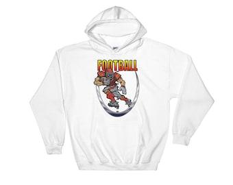 Football Running back Hooded Sweatshirt