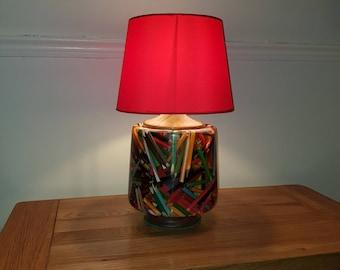 Handmade pencil lamp