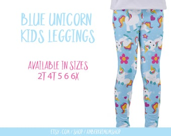 Toddler Leggings / Unicorn Toddler Leggings / Unicorn Kids Leggings / Unicorn Gift / Unicorn Pants / Unicorn Leggings / Toddler Gift
