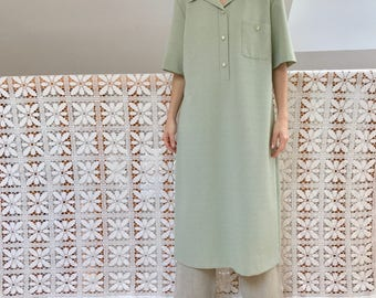 vintage light green oversized tunic