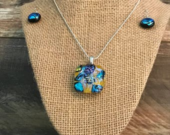 Glass Fusion Jewelry - Earrings & Necklace
