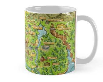 Stardew Valley map  Mug,Mugs with Sayings, Mugs for Men, Gift for Him, Gift for Her, Funny Mugs,Ceramic Mug, Game Mug, Valley Mug