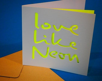 Love like neon - Greeting card