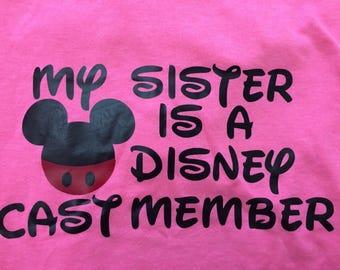 Disney Cast Member or Disney College Program Custom Family TShirt