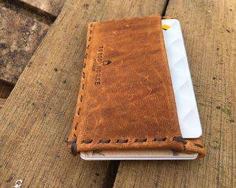 Personalized Slim Leather Wallet Monogrammed
