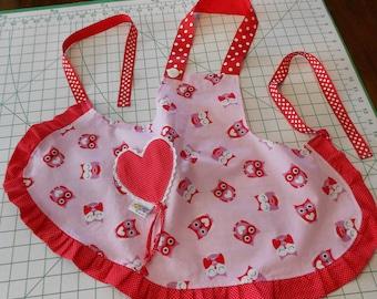 Toddler Valentine's Day Apron Girl's 3-4