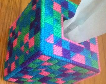 Multi color Tissue Box Cover