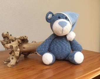 Cuddly Bear Bram with Nightcap