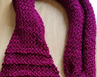 Hot Pink Knitted Scarf
