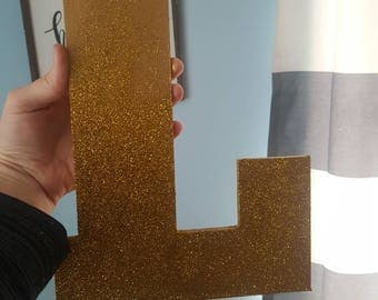 Sparkly letter