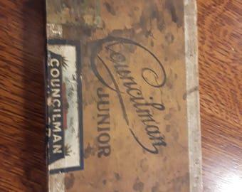 Vintage cigar box. Councilman Junior