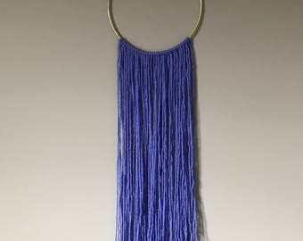 Asymmetrical Ultra Violet Yarn Wall Hanging Decor