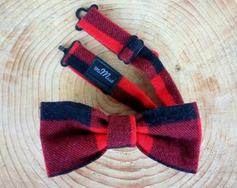 Lumberjack flannel bow tie