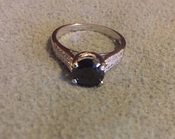18k white gold filled black onyx