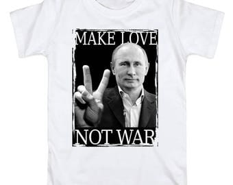 Men's T-shirt Cotton Make love not war