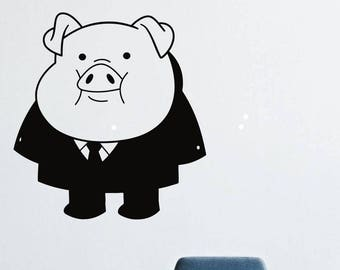 Wall Decals Decor Viny Gravity Falls Waddles Pig Costume LM0168