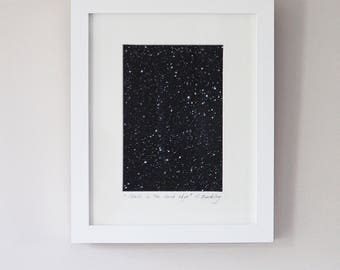 "Framed Mixed Media ""Stars In the Dark Sky"""