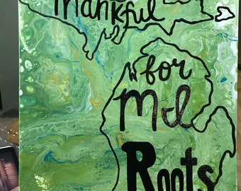 Thankful for MI roots painting