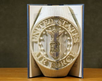 US Air Force Book Sculpture - Military Gifts - Support Armed Forces