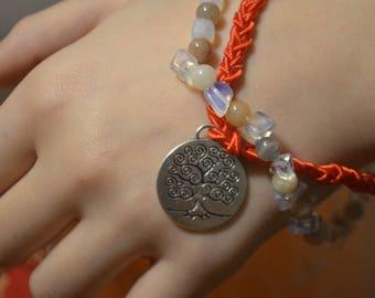 Adularia and Opal Bracelet