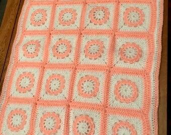 Baby Hand Knitted Pram/Car blanket