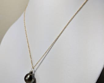 Tahitian Pearl Gold Chain Necklace