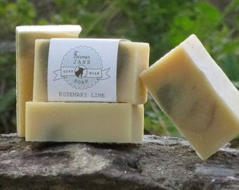 Rosemary Lime Goat Milk Soap