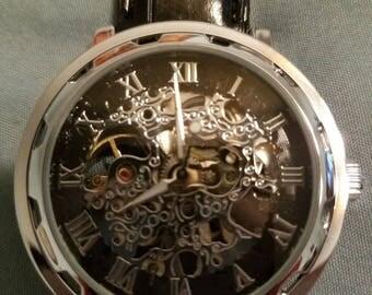 Silver/Black on Silver Watch