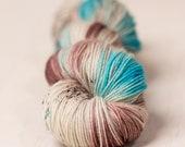 Robins Nest // 4 ply yarn, fingering yarn, sock yarn, super wash yarn, hand dyed yarn, indie dyed yarn, pink yarn, tonal yarn
