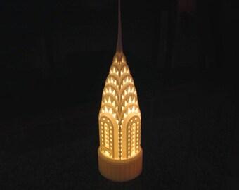Chrysler Building Miniature: 3D-printed Tablelamp
