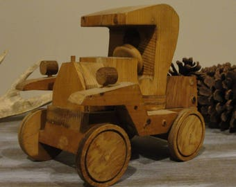 rustic home made truck, cabin decor, wood working decoration, christmas gift.