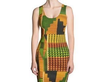 Kente Fitted Dress III