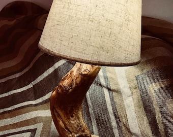 Classic Lamp in natural trunk