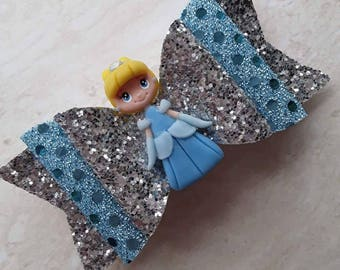 Princess hairclip / hairbow / bow / hair accessory / hairclips