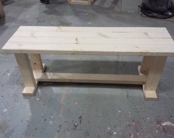 Handmade garden/kitchen/greenhouse seating and utility bench