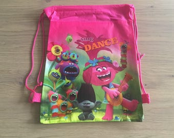 Trolls Drawstrings Bag Swimming Bag Library Bag Gift Bag School Bag